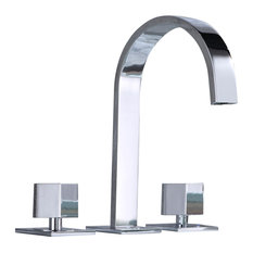 MOD   Liza Bathroom Vanity Widespread Sink Faucet, Chrome   Bathroom Sink  Faucets