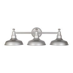 Bath Vanity Lights: Design House - Kimball 3-Light Vanity Fixture, Silver - Bathroom Vanity  Lighting,Lighting
