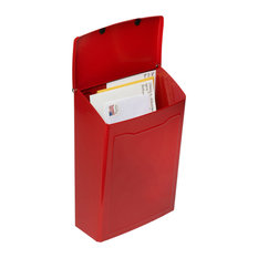 Marina Wall Mount Mailbox, Red