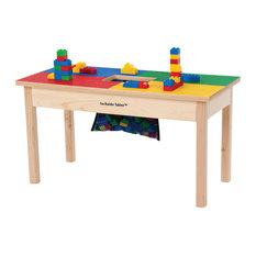 """Duplo Compatible Play Table With Storage Bag, 32""""x16"""", With Play Table Cover"""