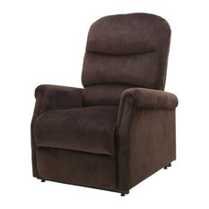 GDF Studio Alan Fabric Lift Up Recliner Chair Chocolate