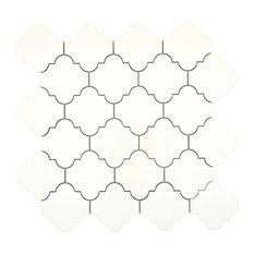 "Vogue Biscuit 12""x12"" Ceramic Mosaic Tile, Set of 11"