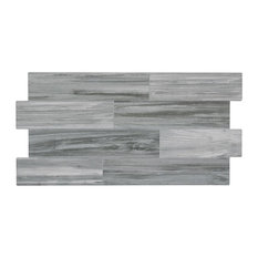 "13""x26"" Canada Jet Porcelain Tiles, Set of 5, Gris"