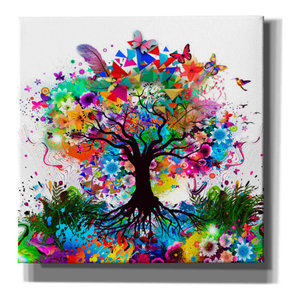 Epic GraffitiChai of Colors by Linda Woods Giclee Canvas Wall Art 37 x 37 Contemporary