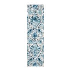 "Safavieh Madison Collection MAD600 Rug, Cream/Turquoise, 2'3"" X 8'"