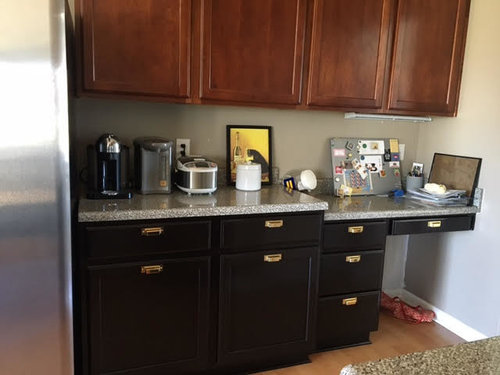 Need help to convert kitchen desk to counter...