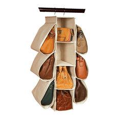 Richards Homewares   Canvas Hanging Handbag Organizer   Closet Organizers