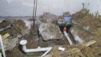 New basement bathroom addition