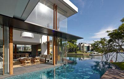 Casas Houzz: Vistas al mar en una vivienda de lujo en Singapur