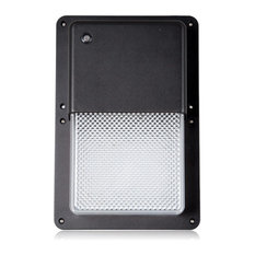 Most popular dusk to dawn outdoor wall lights and sconces for 2018 maxxima maxxima rectangular outdoor led wall pack light with dusk to dawn sensor 1050 lu aloadofball Images