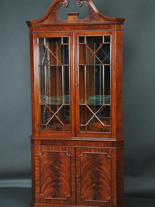 Mahogany Corner China Cabinet for the Dining Room (K NDRC 010)