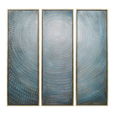 Concentric Textured Metallic Hand Painted Wall Art by Martin Edwards