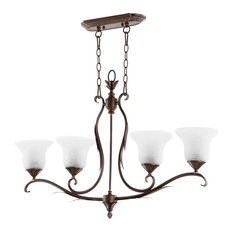 "Quorum International 6572-4 Flora 4 Light 37-1/2""W Chandelier wi - Copper"