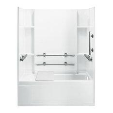 "Sterling  Accord 74""x32""x60"" Vikrell Tub/Shower, White"