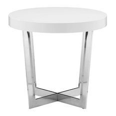 Pearl Side Table, White