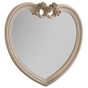 Heart Ivory Wall Mirror, 97x91 cm
