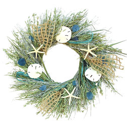 Beach Style Wreaths And Garlands by Botanical Splash