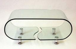 J&M Furniture Modern Coffee Table A090B in Glass