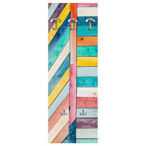 Wood Colours Wall Coat Rack