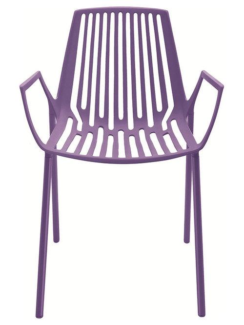 Rion Karmstol Stapelbar, Lila - Udendørs spisebordsstole