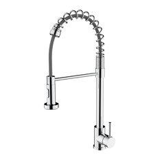Lanuvio Brass Kitchen Faucet w/ Pull Out Sprayer - Chrome