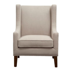 Barton Wing Chair, Linen