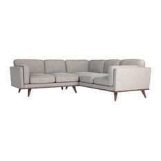 Manu Silver-Gray Corner Sofa