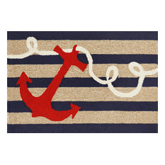 "Frontporch Anchor Mat, Navy, 20""x30"""