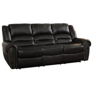 Hudson Power Reclining Top Grain Leather Sofa