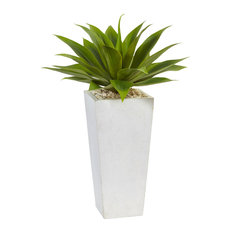 Agave Artificial Plant in Green and White