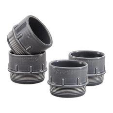 Pipe Ceramic Espresso/Condiment Cups, Grey, Set of 4