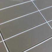 "Manhattan Taupe Brown 4"" x 12"" Glass Subway Tile"
