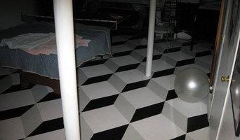 3-D design on floor