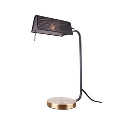 Zoco Table Lamp, Brushed Brass