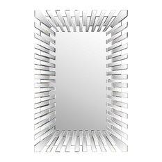 Starburst Rectangular Wall Mirror, 80x120 cm