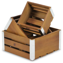 Farmhouse Storage Bins And Boxes by Cheungs