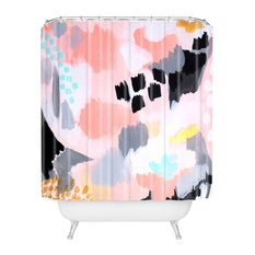 Laura Fedoroqicz Serenity Abstract Shower Curtain, Standard
