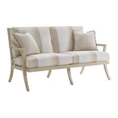 Tommy Bahama Misty Garden Outdoor Love Seat in Ivory-Gold