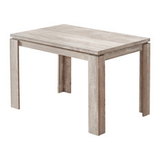 """Monarch Specialties 32""""x 48"""" Contemporary Taupe Reclaimed Wood-Look Dining Table"""
