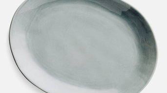 Home Address grey platter