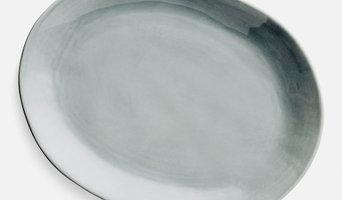 Home Address grey platter