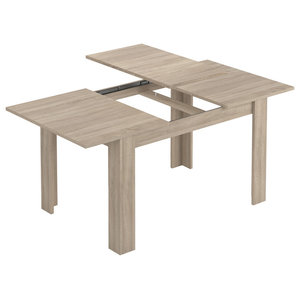 Kendra Extendable Dining Table, Natural Wood
