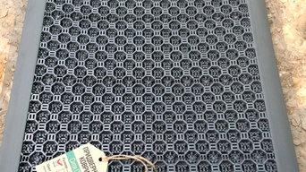 Придверные коврики из ПВХ с подложкой.