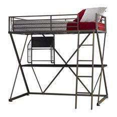 Powell Pewter Z Loft Bed 941-119