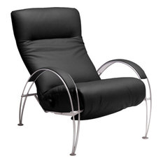 Lafer - Lafer Billie Modern Recliner Black - Recliner Chairs  sc 1 st  Houzz : danish modern recliner - islam-shia.org