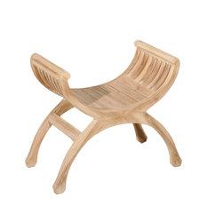 Yuyu Teak Accent Chair, Bleached