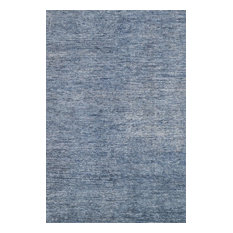 """Blue Hand-Knotted Serena Area Rug by Loloi, 4'0""""x6'0"""""""