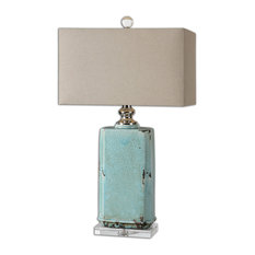 Uttermost Adalbern Blue Crackle Lamp