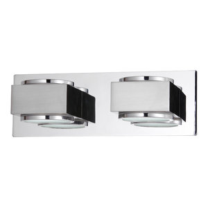 Valina Twin Bathroom Wall Light, Chrome