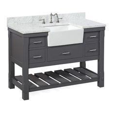 kitchen bath collection charlotte bathroom vanity base charcoal gray 48 - Gray Bathroom Vanity